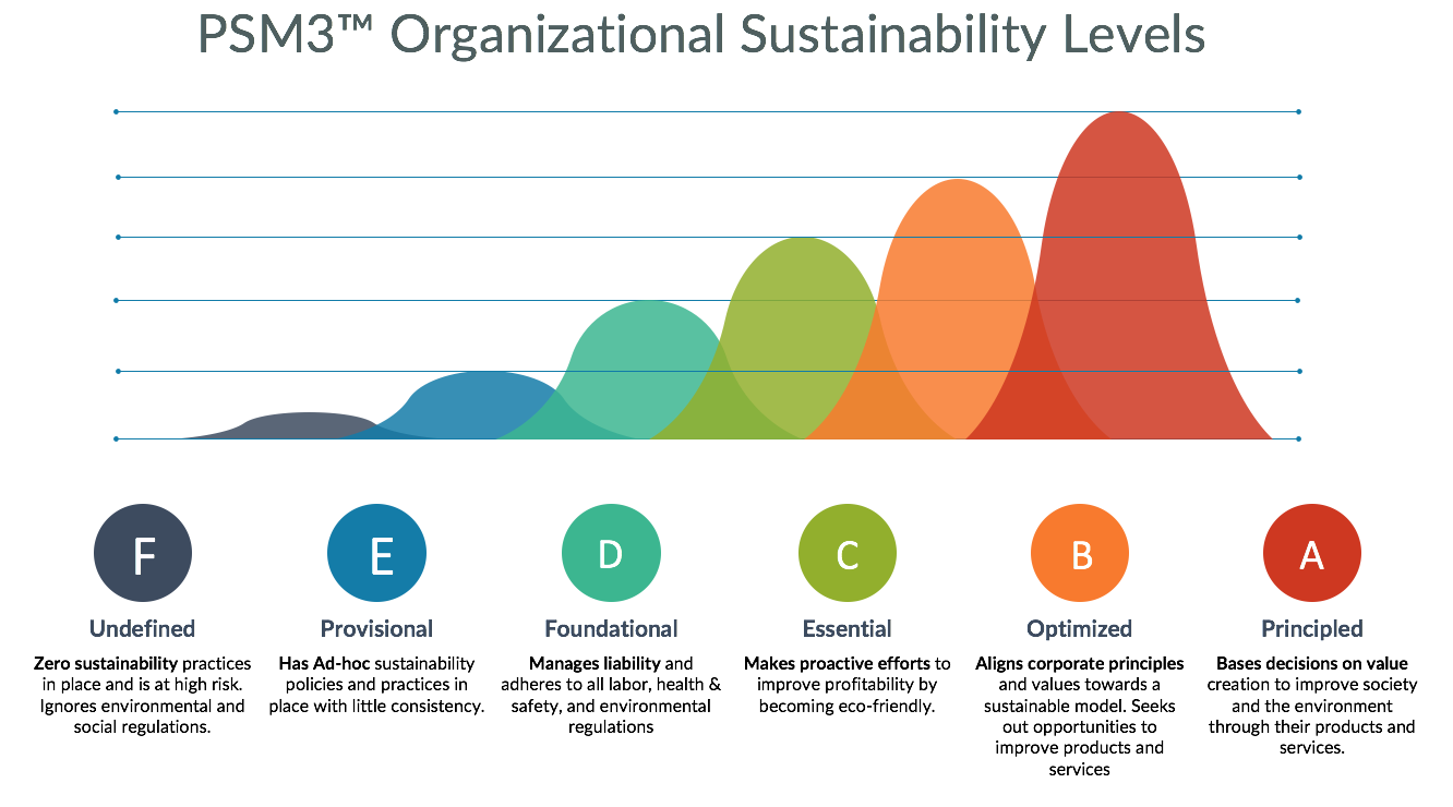 GPM PSM3 Sustainability Levels